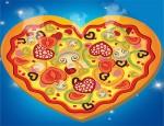 لعبة طبخ البيتزا علي شكل قلب